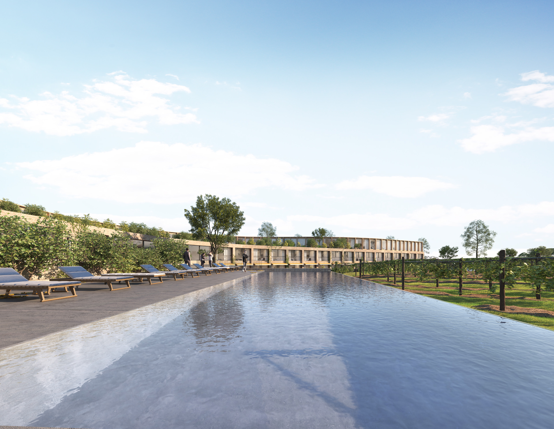 Cera Stribley Architecture Interior Design Diggers Rest Hotel outdoor pool