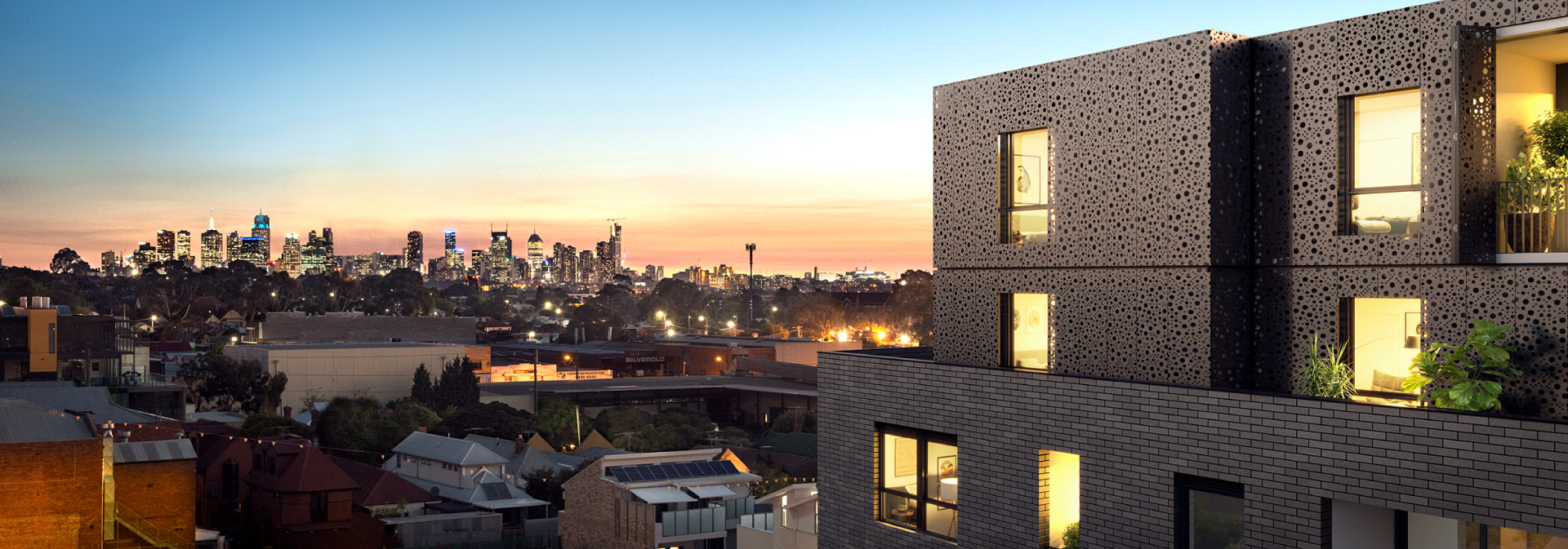 Cera Stribley Architecture Interior Design Pace of Northcote exterior city view