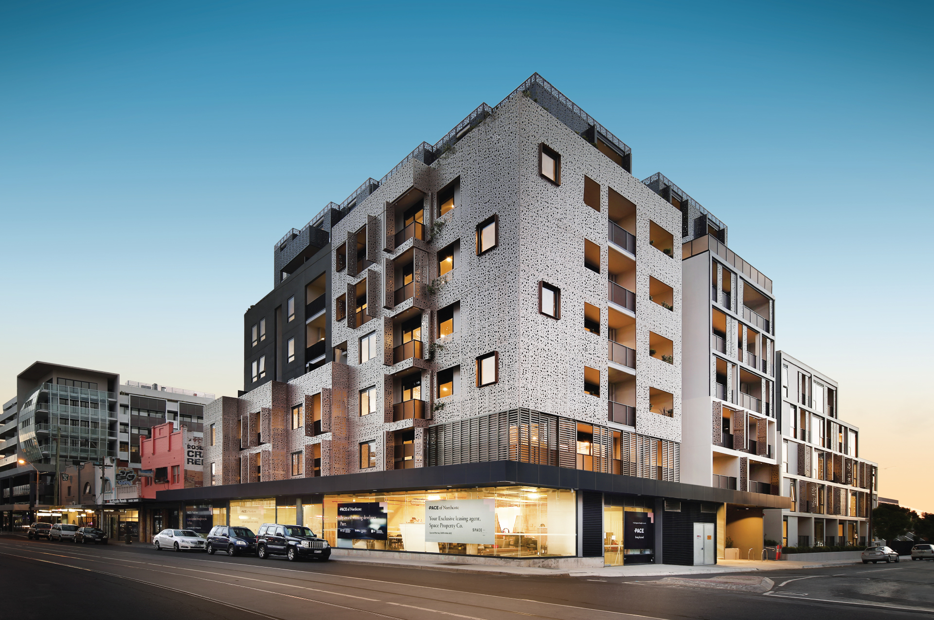 Cera Stribley Architecture Interior Design Pace of Northcote exterior street view