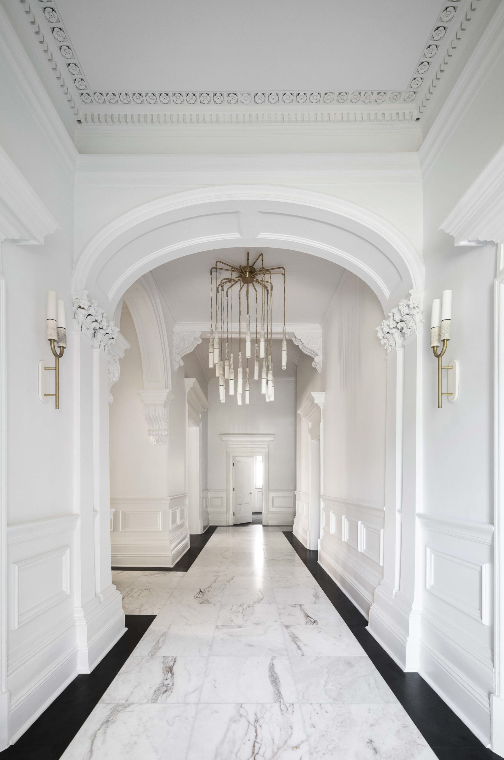 Cera Stribley Architecture Interior Design Albert St interior marble hallway