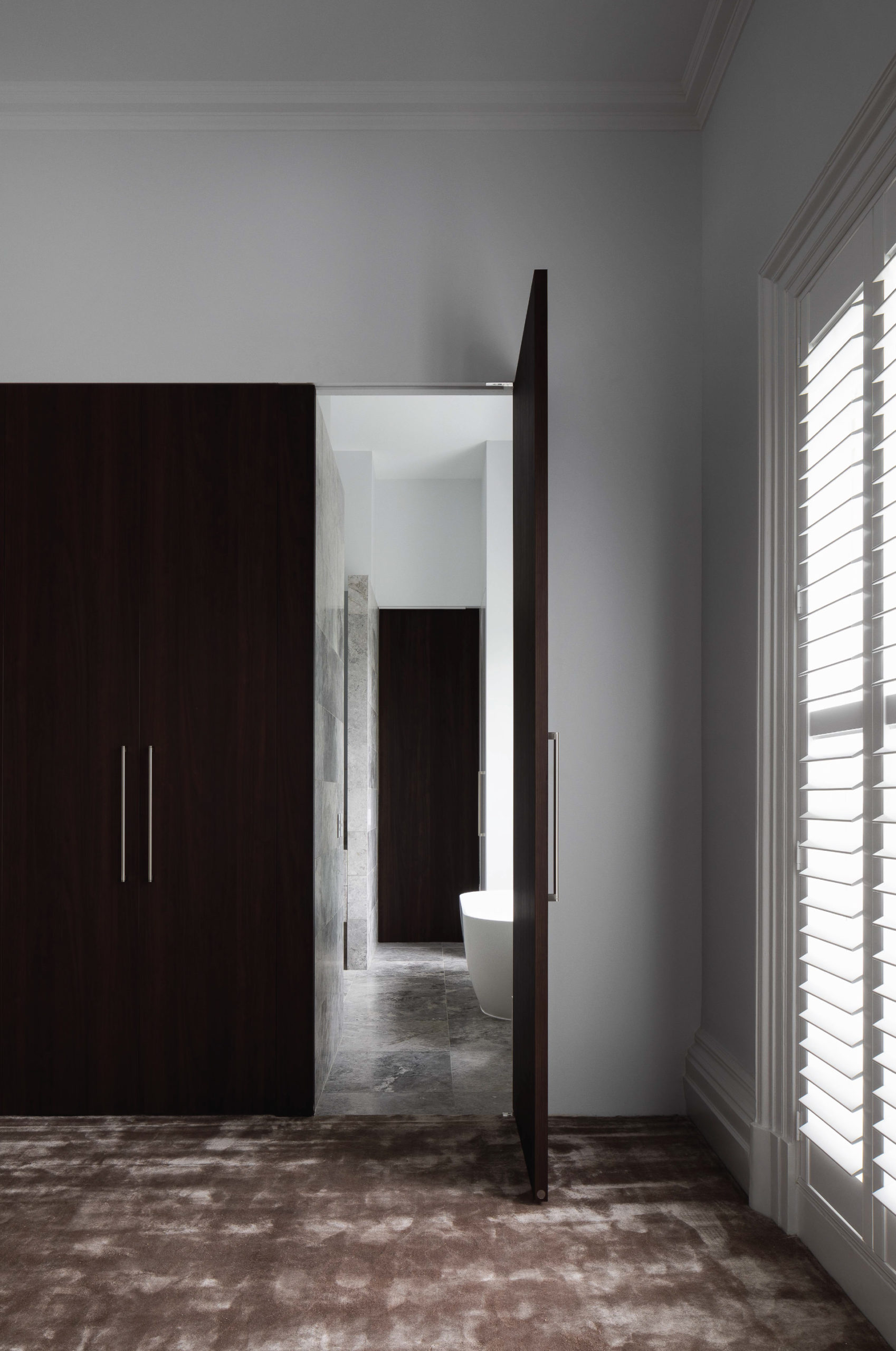 Cera Stribley Architecture Interior Design Albert St interior bathroom door