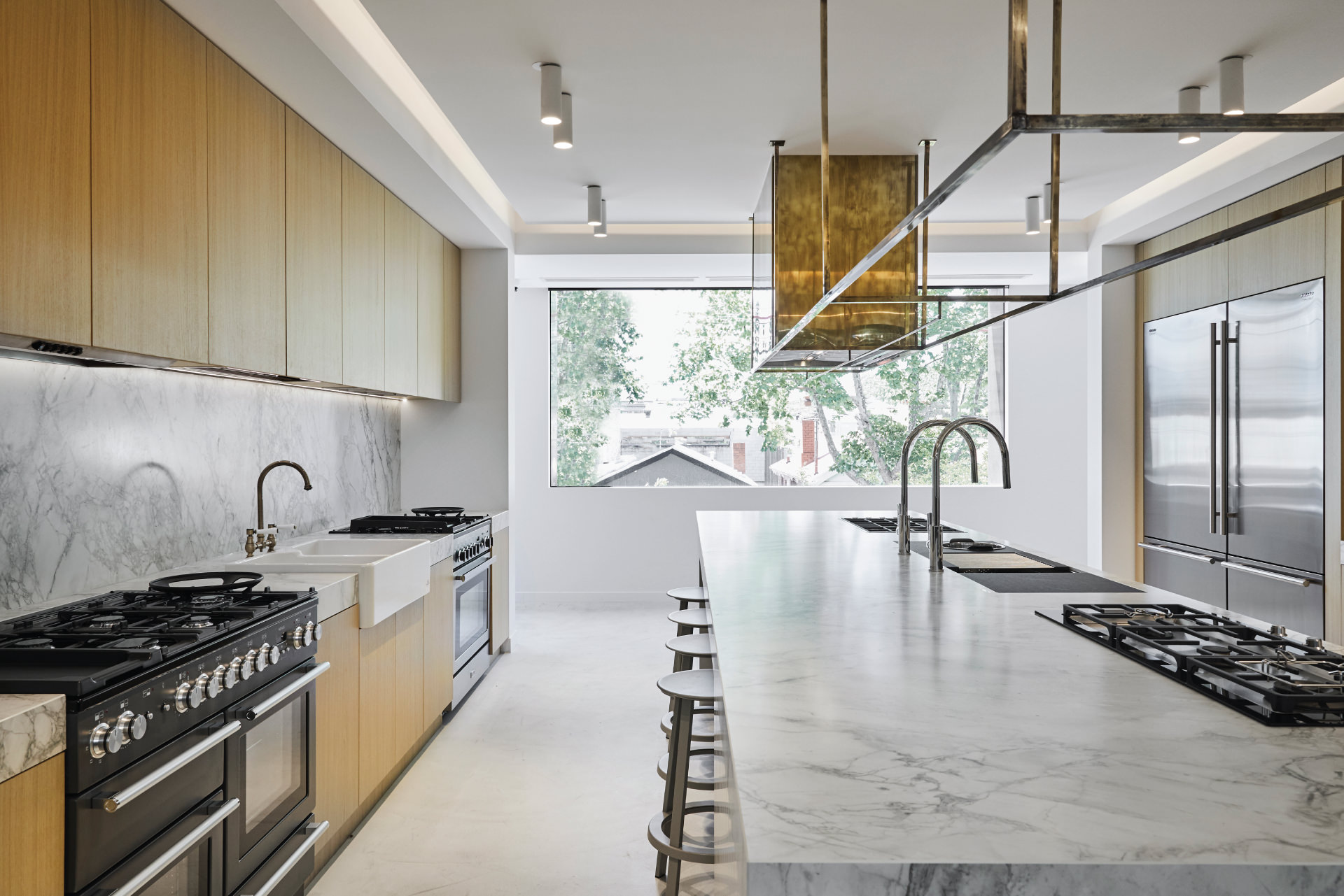 Cera Stribley Architecture Interior Design Winning Appliances Richmond interior wooden marble kitchen