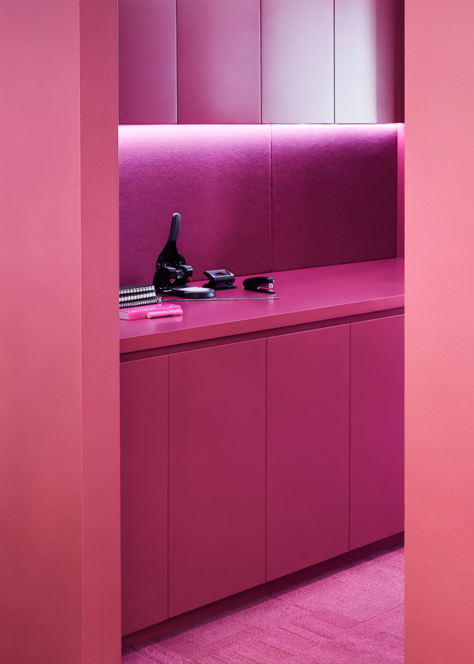 Cera Stribley Architecture Interior Design Thinkerbell pink office space