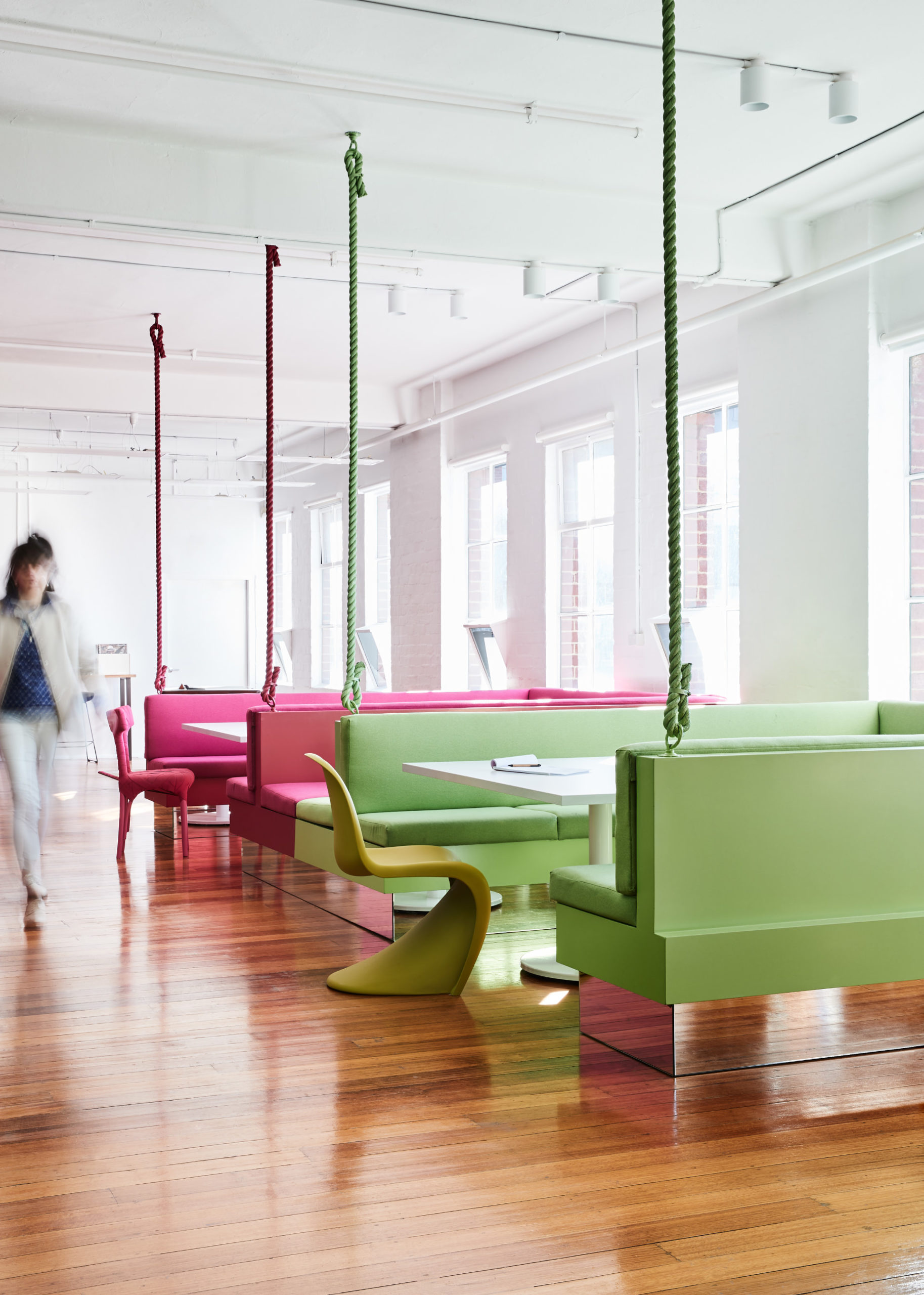 Cera Stribley Architecture Interior Design Thinkerbell suspended booths
