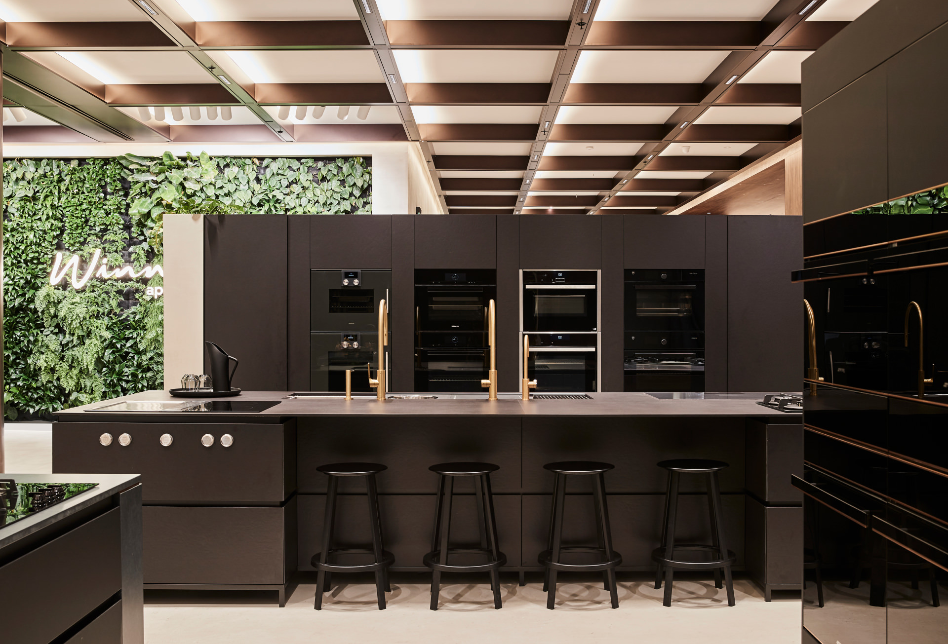 Cera Stribley Architecture Interior Design Winning Appliances Chadstone black kitchen display